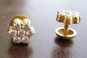 pics of Vajra Kutka - Traditional Konkani Diamond Earrings